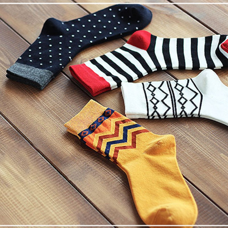 100% Cotton Colorful Style Men Fashion Socks