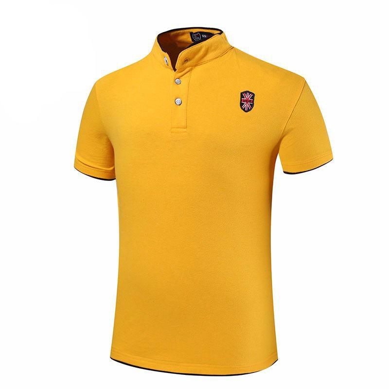 100% Cotton Stand Collar Mens Polo Tshirts