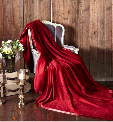 100% Silk Plain Blankets