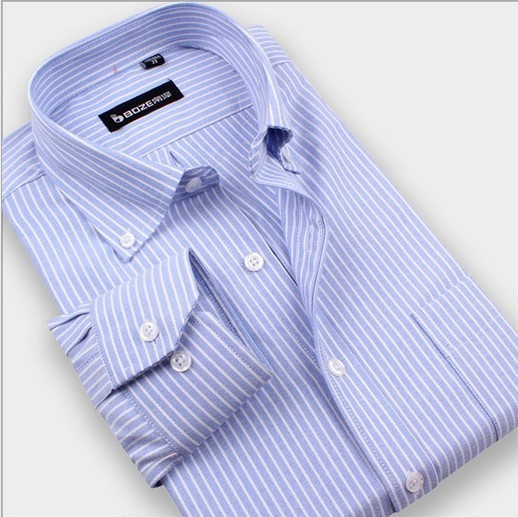 Mens 100% Cotton Long Sleeve Formal Shirt