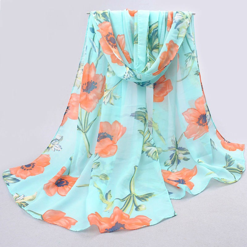 Designer Women Long Chiffon Scarves
