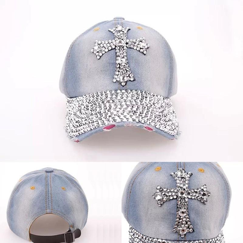 Fashionable Diamond Women Baseball Cap