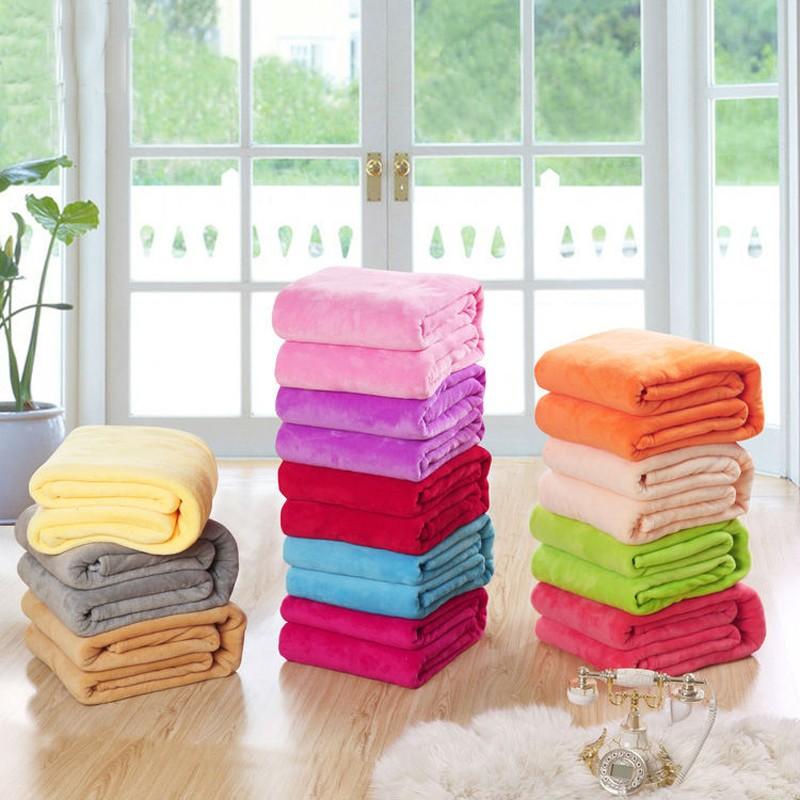 Handmade Solid Velvet Blankets