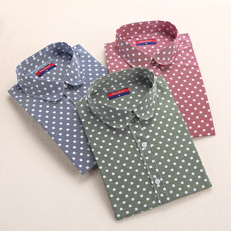 High Quality Womens Polka Dots Print Shirts