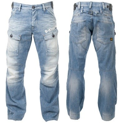 Mens Denim Cargo Jeans