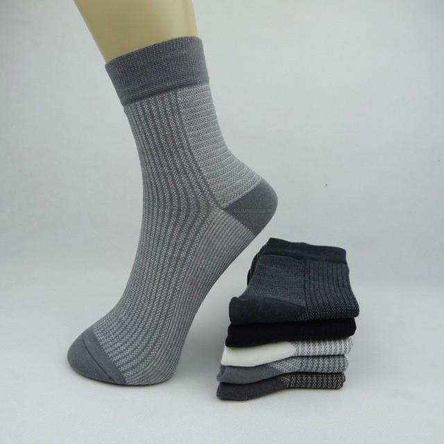 knee High Business Stripe Pattern Men Socks