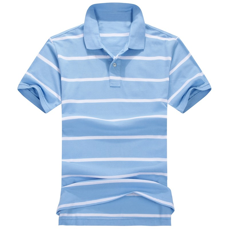 Latest Mens Short Sleeve Striped Polos