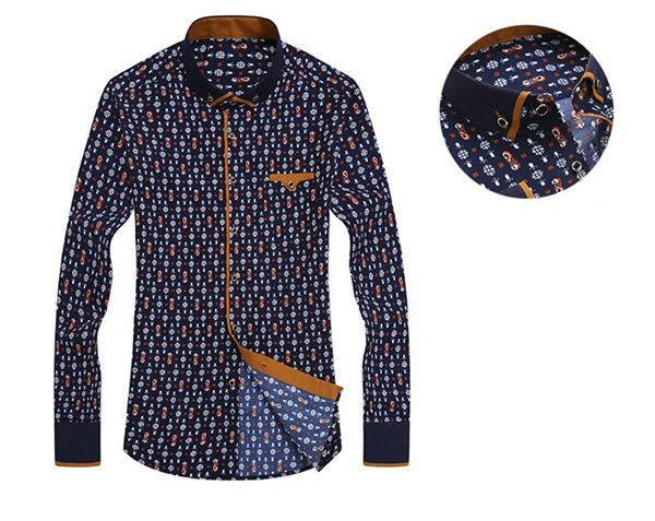 Long-Sleeve Slim Fit Mens Casual Shirts