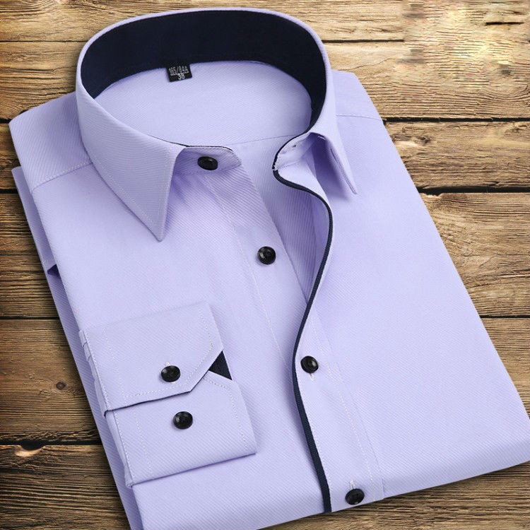 Long Sleeve Turn Down Collar Mens Shirts