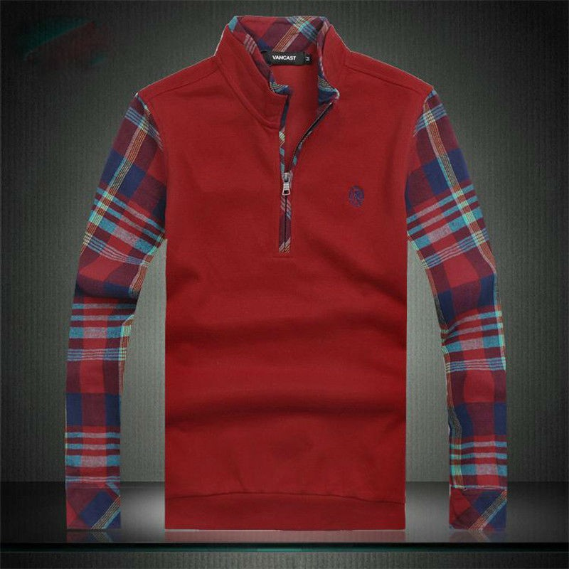 Luxury Mens Zipper Collar Polos Tshirts