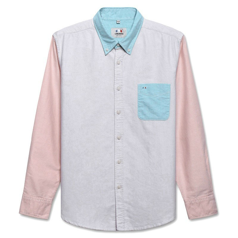 Mens 100% Cotton Solid Long Sleeve Shirts