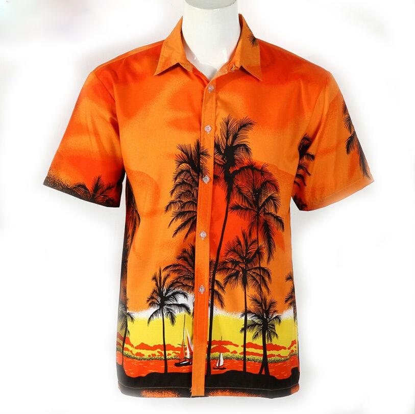Mens Casual Printed Short Sleeve Shirts