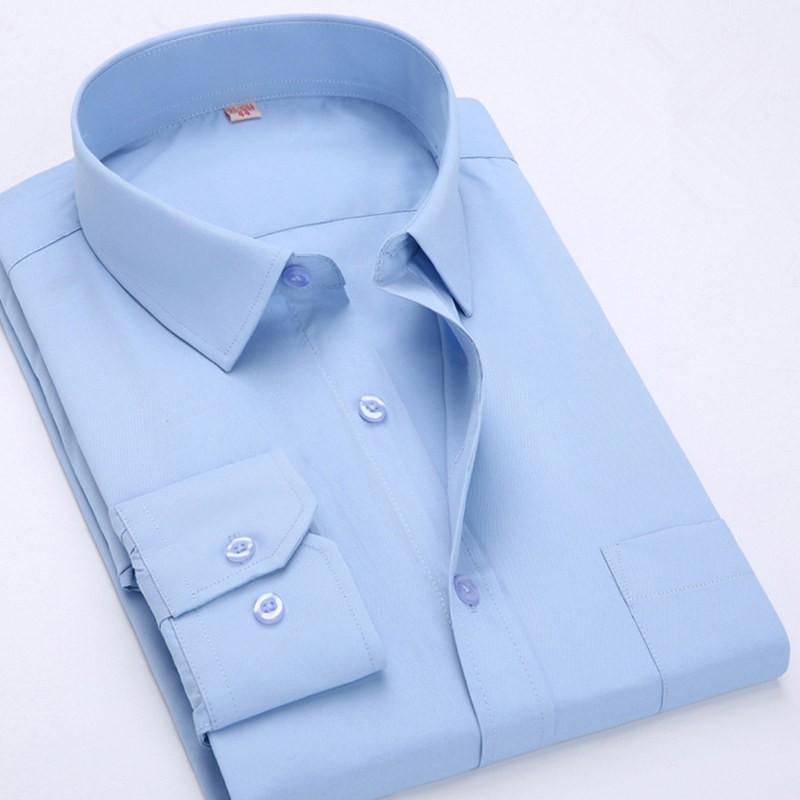 Mens Fashion Long-Sleeved Cotton Casual Shirts