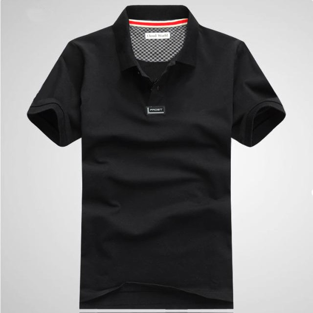 Mens Fashion Turn Down Collar Polo Tshirts