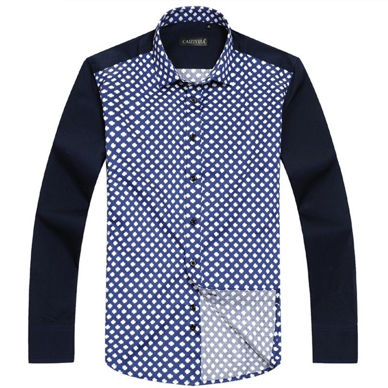 Mens Floral Print Square Collar Shirts
