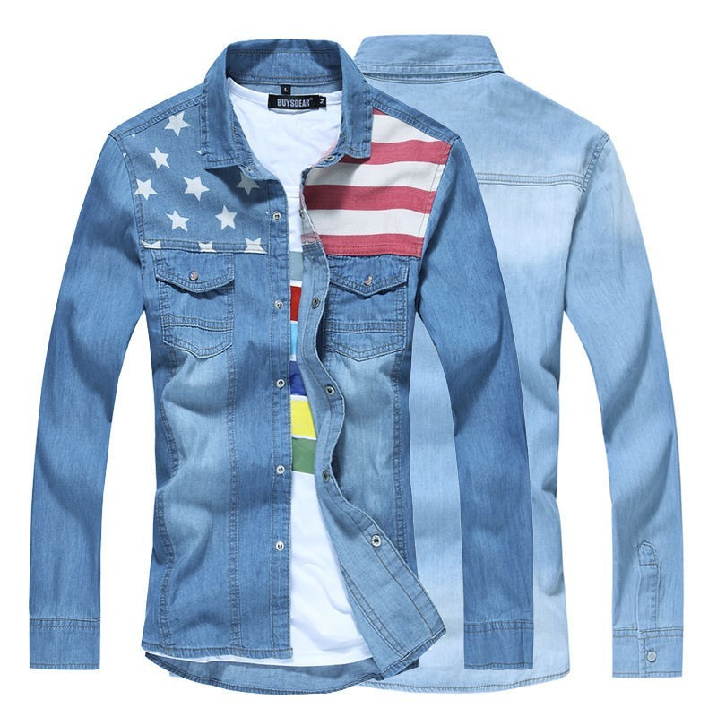Mens Long Sleeve Denim Shirts