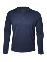 Mens Long Sleeve Ribbed Double T-shirt