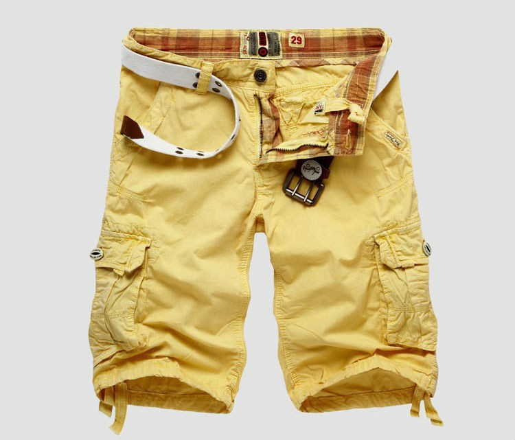 Mens Multi-Pocket Cotton Shorts
