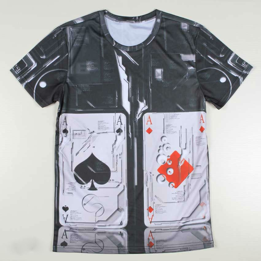 Mens Multi Printed 3D Casual Tshirts