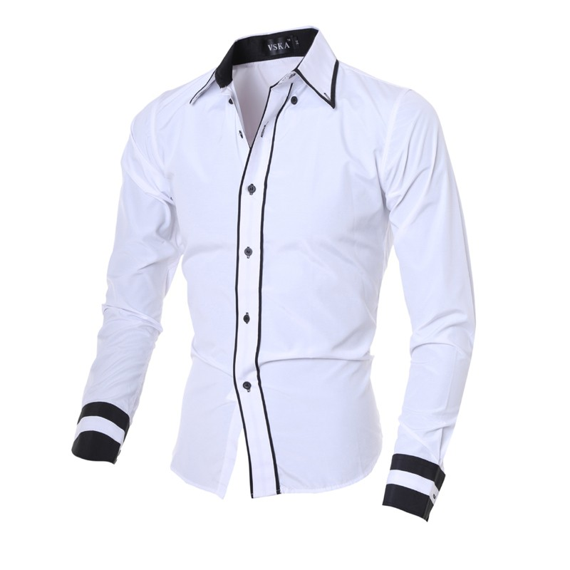 Mens New Design Solid Long Sleeve Shirts