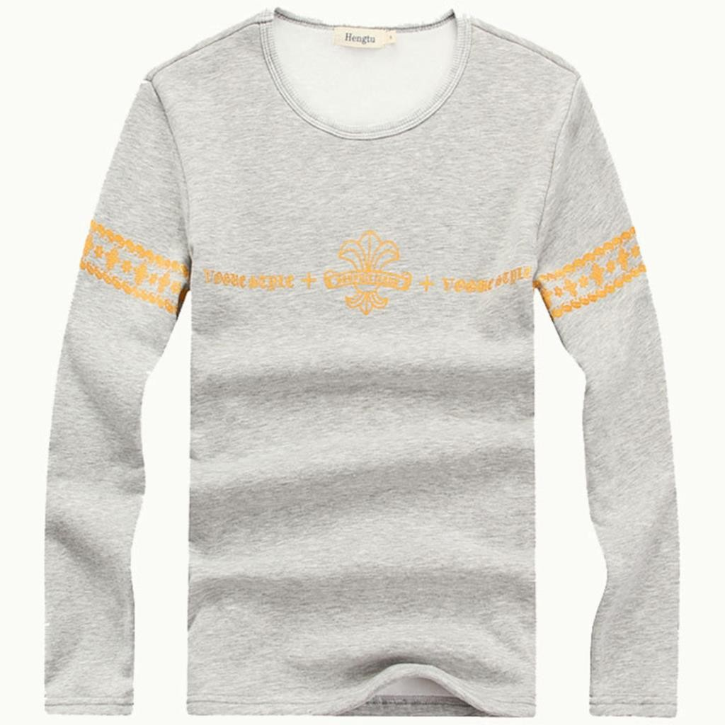 Mens O Neck Long Sleeve Print Tshirts