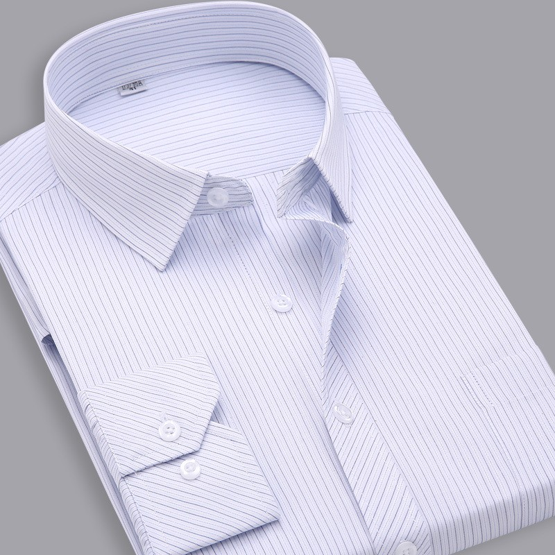 Mens Slim Fit Striped Cotton Shirt