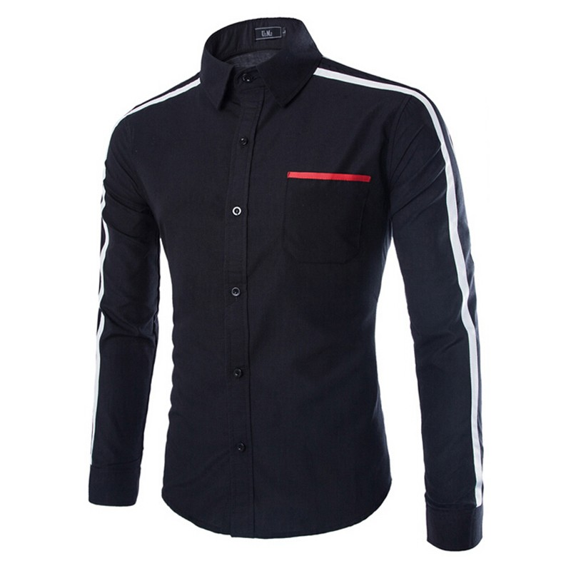 Mens Slim Fit Striped Cotton Shirts