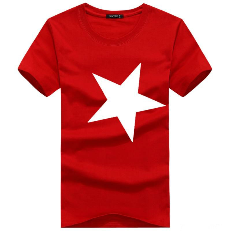 Mens Star Printed Short Sleeve Tshirts