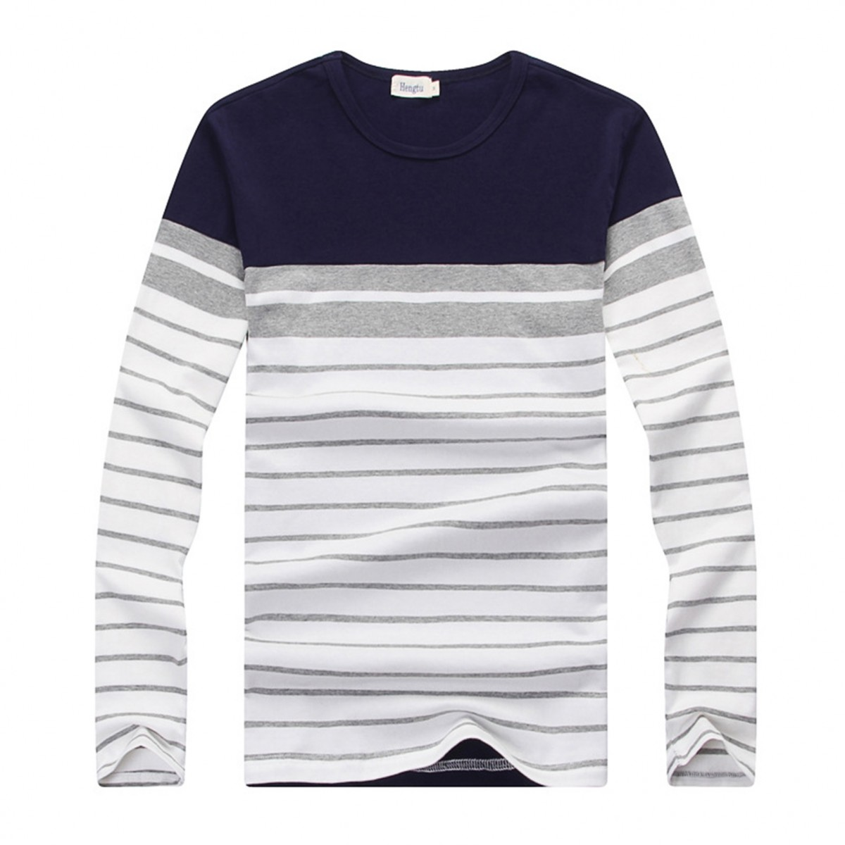 Mens Striped O Neck Casual Tshirts