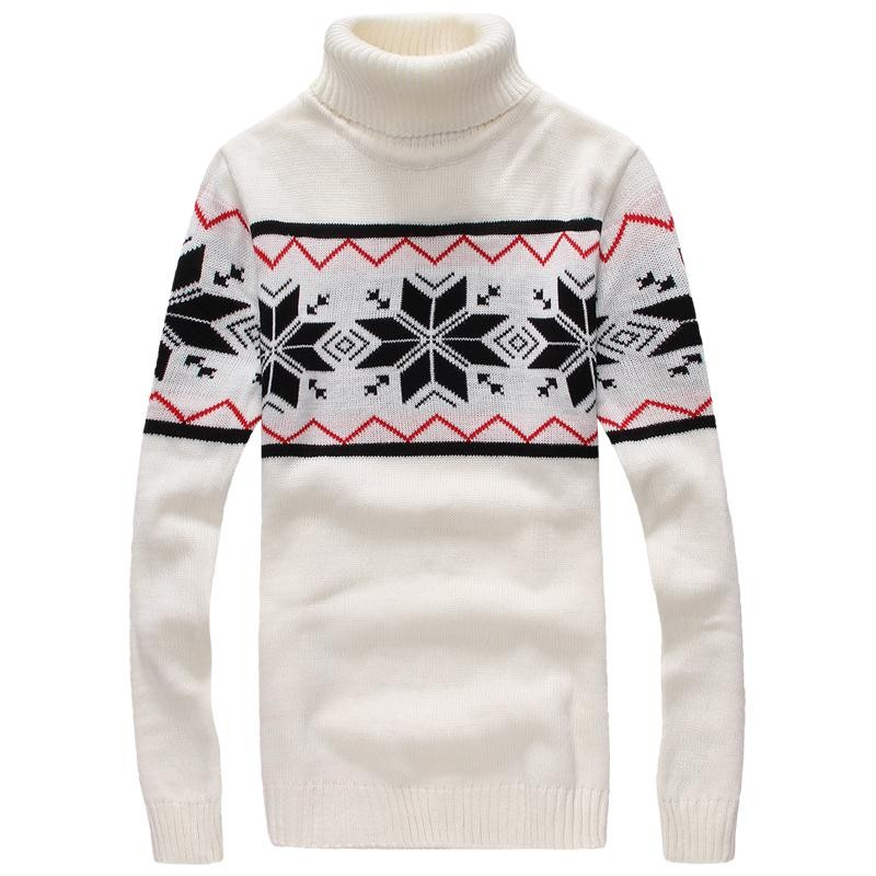 Mens Winter Pullover Turtleneck Sweaters