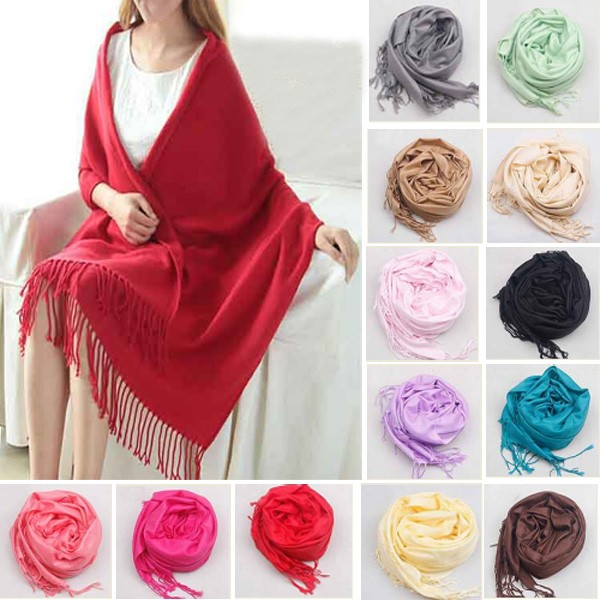 Multi Colors Womens Cashmere Scarves - 16