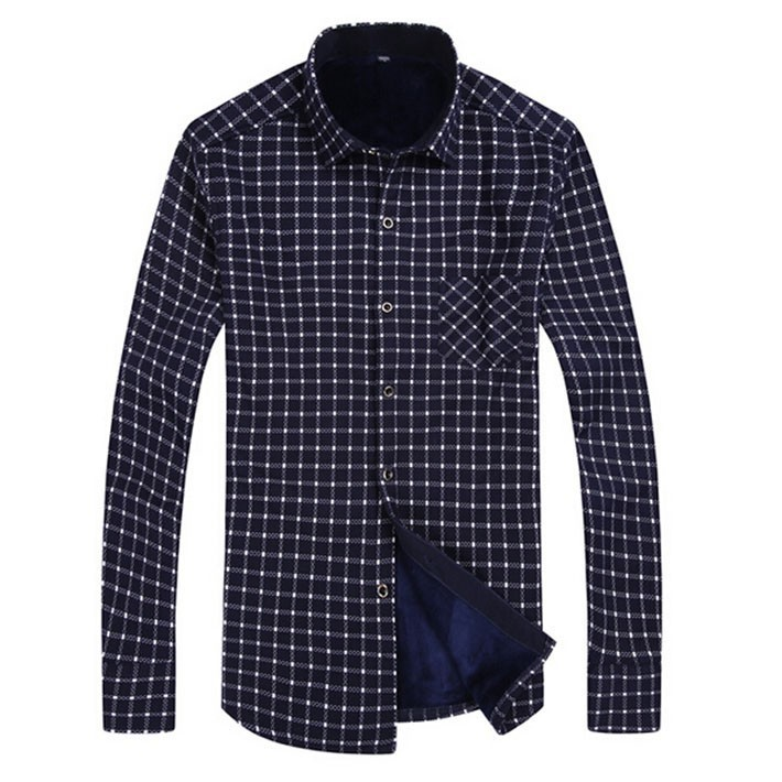 Plaid Mens Casual Shirts