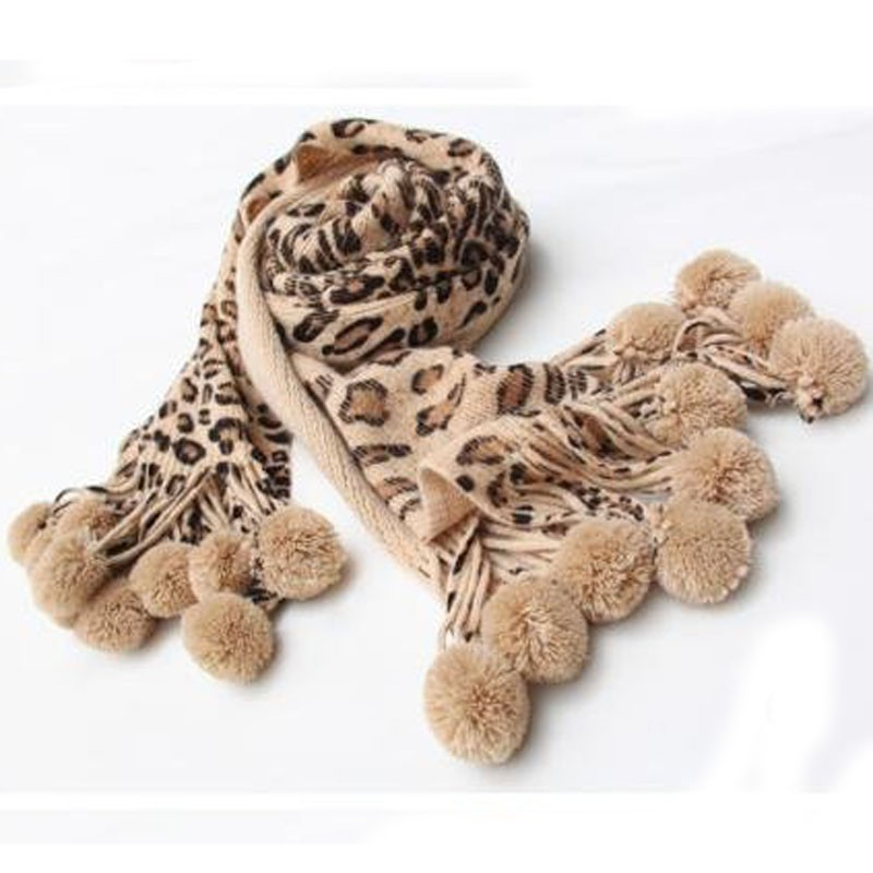 Stylish Animal Print Ultra Long Wool Women Scarves