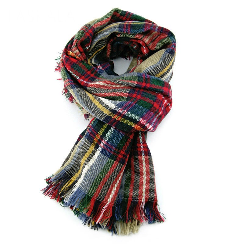 Stylish Womens Plaid Scarf Shawl and Scarves