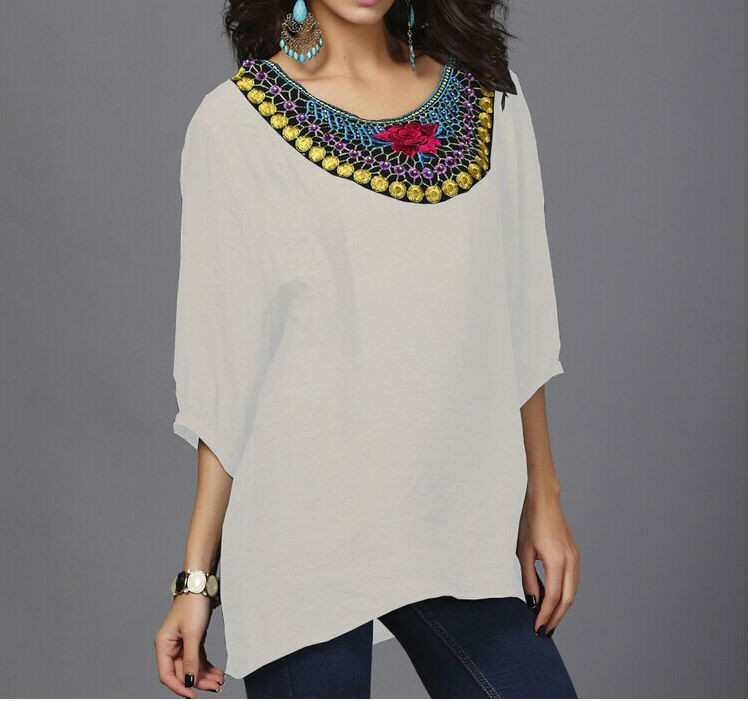 Womens Cotton Embroidered Tshirts