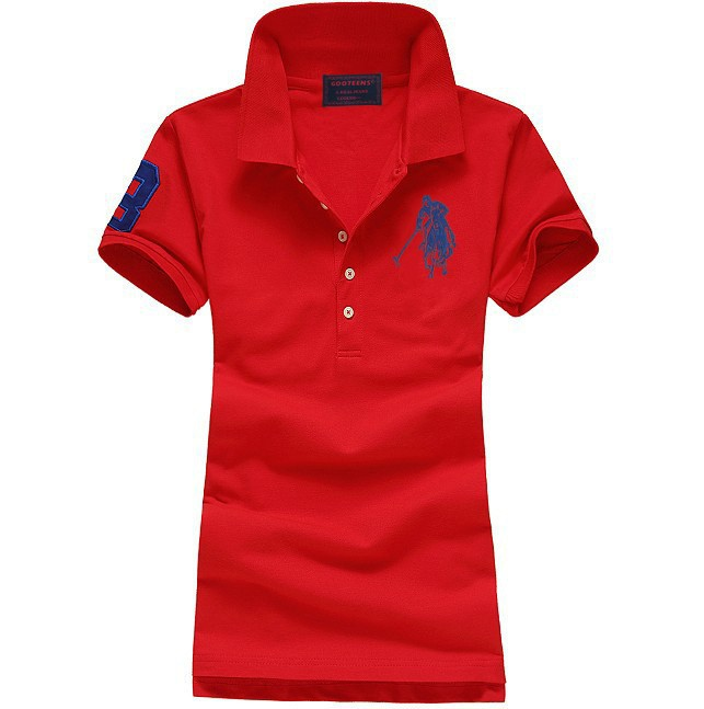 Womens Cotton Short Sleeve Polo Shirts
