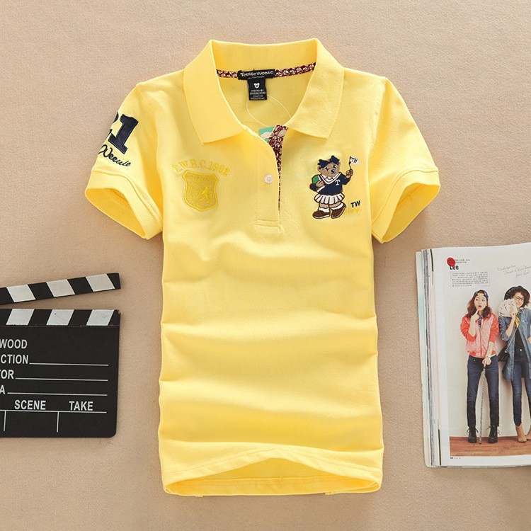 Womens Embroidered Breathable Cotton Polos