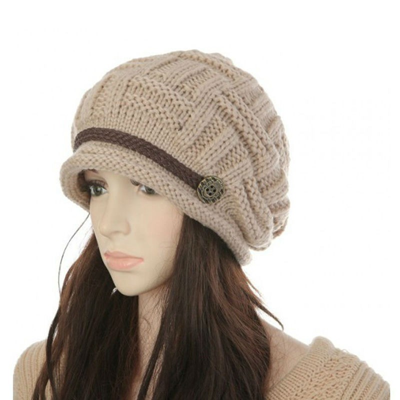 Womens Fashion Thermal Knitted Winter Hats