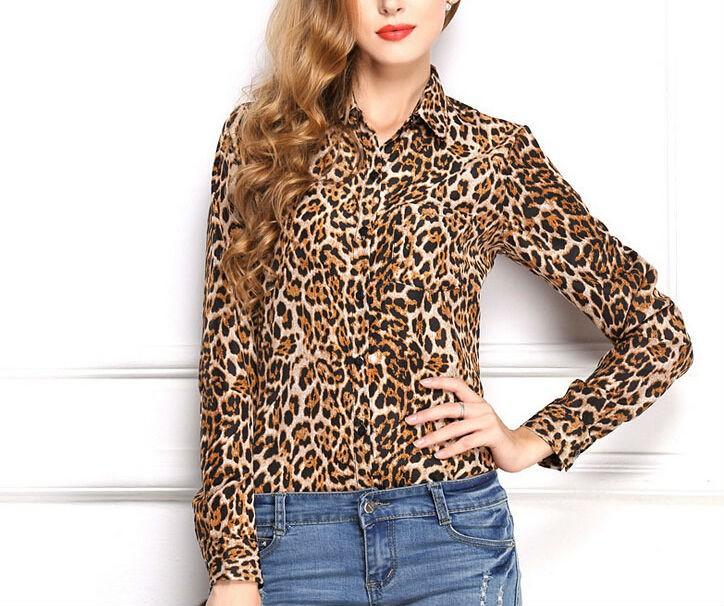 Womens Long Sleeve Loose Printed Shirts