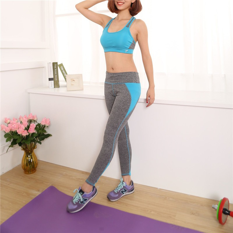 Womens Nylon Yoga Fitness Suit Sets
