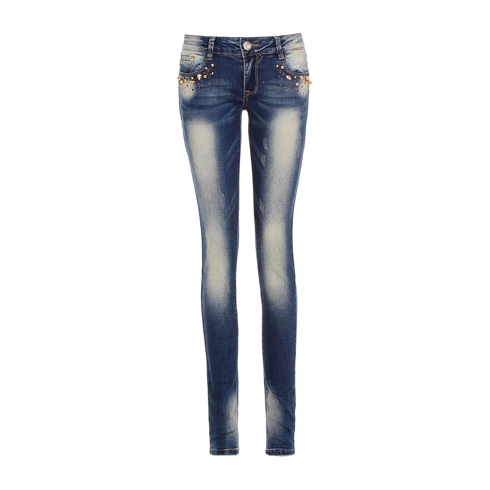 Womens Skinny Pencil Jeans