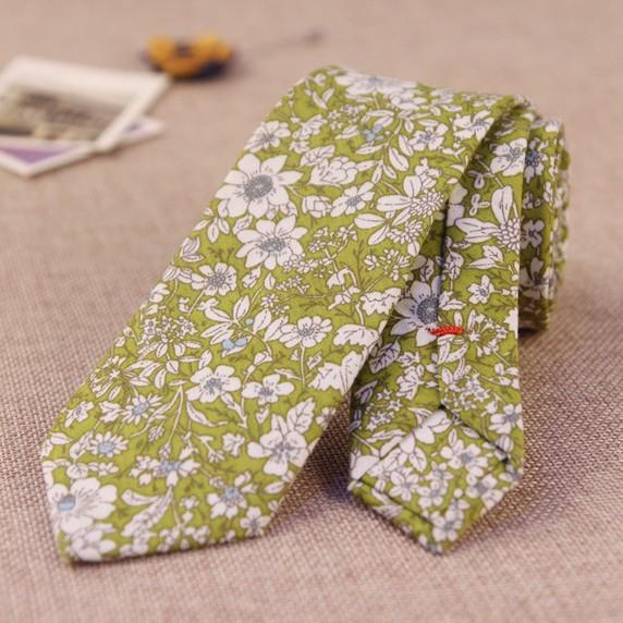 mens designer ties rl34  100% Cotton Floral Printed Casual Men Ties