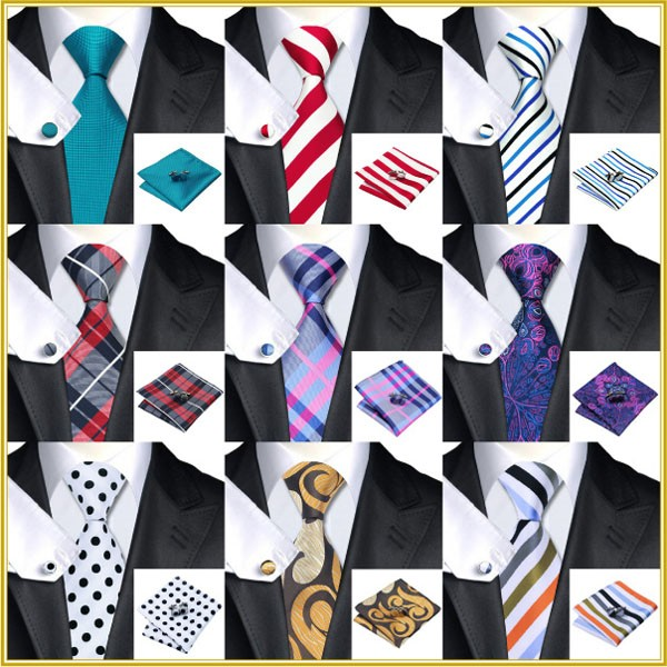 100% Silk Wedding Multi Pattern Men Tie Sets