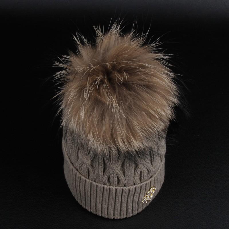 Colorful Fur Pom Pom Women Fashion Caps Creative India Exports 223a0d82fe