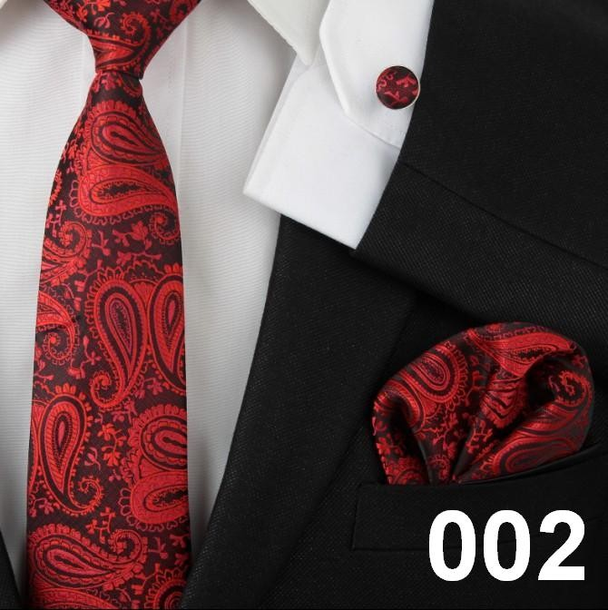 Latest Floral Printed Mens Fashion Silk Tie Sets Creative