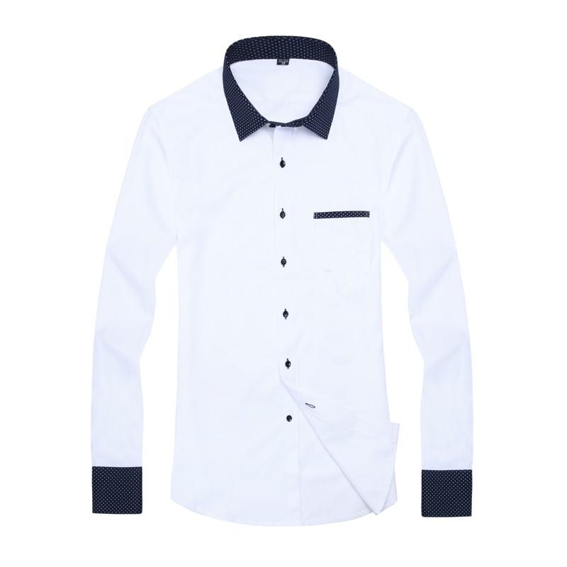 Long Sleeve Turn Down Collar Mens Shirts Creative India
