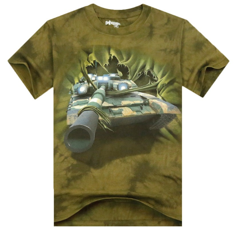 6a4436793f83 Mens 3D Printed Cotton Casual Tshirts Creative India Exports