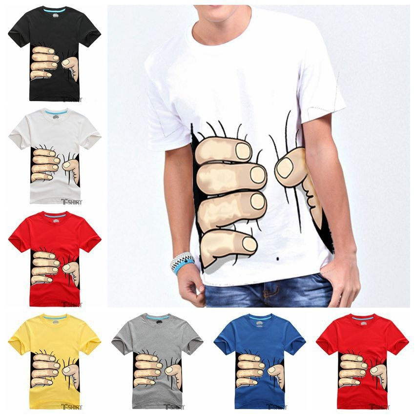 Mens Big Hand 3d Fashion Cotton Tshirts Creative India Exports