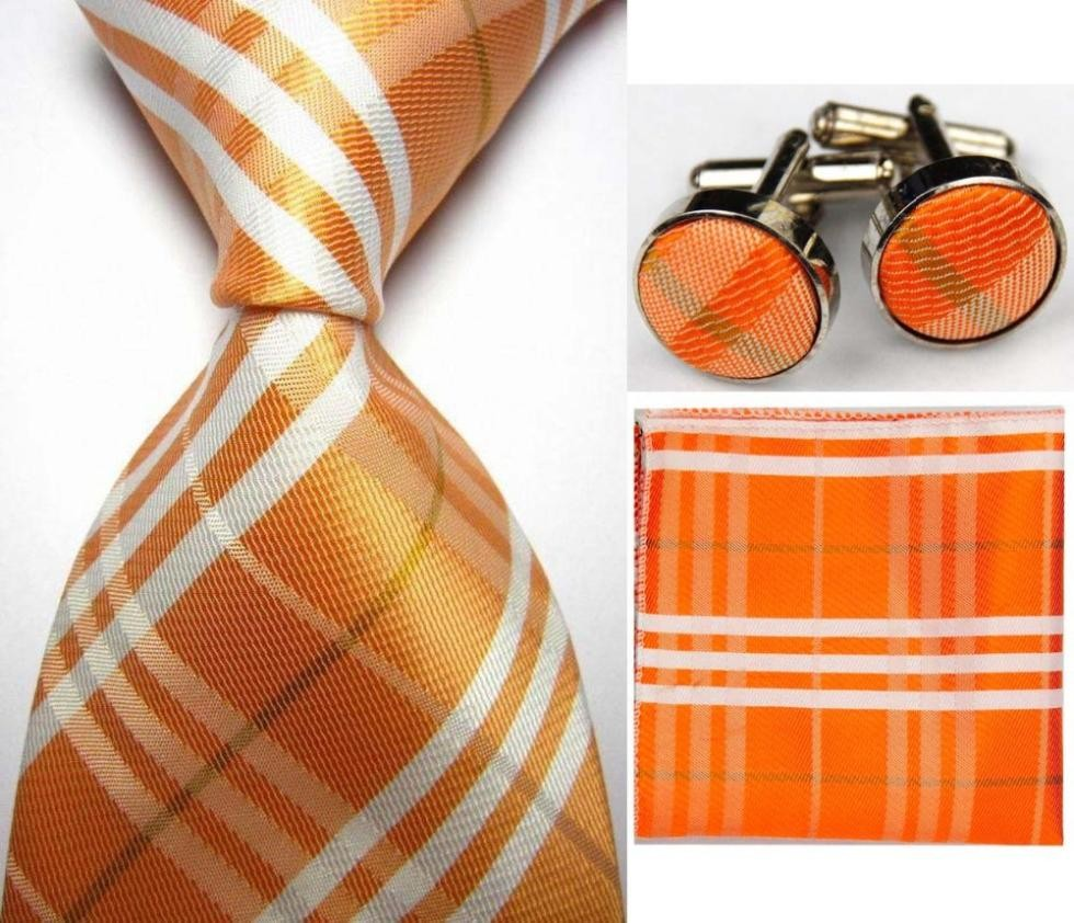 Mens Check Pattern Silk Business Tie Sets Creative India ...