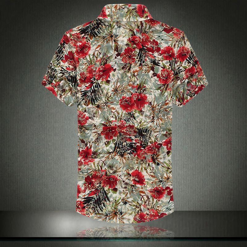 Mens cotton short sleeved floral shirts creative india exports for Mens short sleeve floral shirt